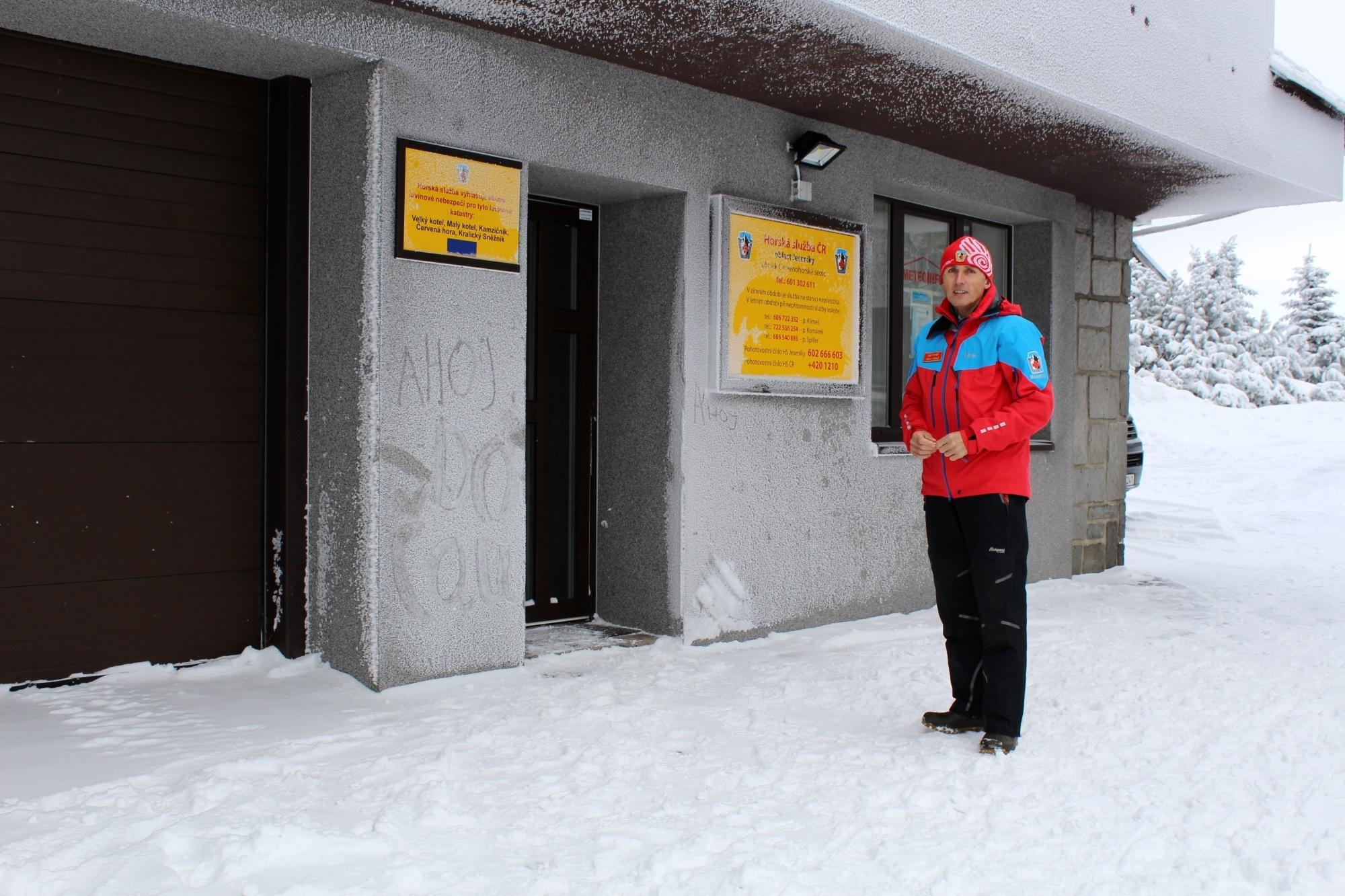 Náčelník Horské služby Michal Klimeš