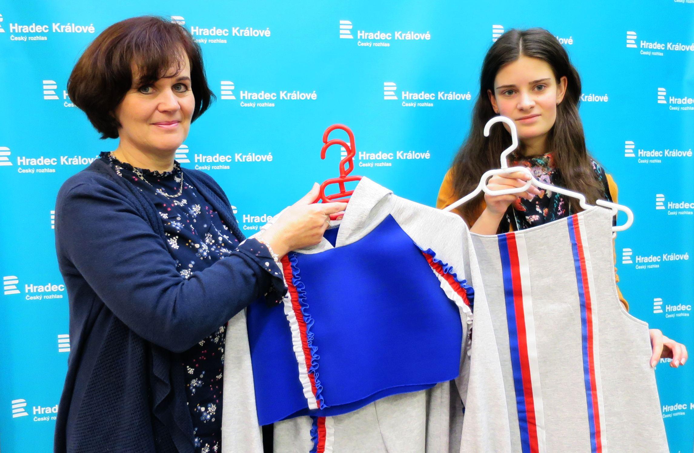 Hana Košutová a Aneta Hornychová ve studiu Českého rozhlasu Hradec Králové