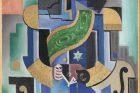 Josef Čapek ve svém díle vycházel ze syntetického kubismu a využíval jeho skladebný princip. Obraz je frontální stylizovanou postavou sestavenou z geometrických tvarů a napodobených reálných struktur (obraz Černošský král, 1920)