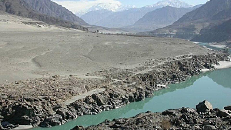 Údoli řeky Indus - tudy náš čáp pravděpodobně proletěl