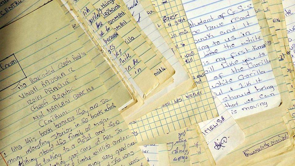 Dopisy od dětí ze školy Bonadikombo