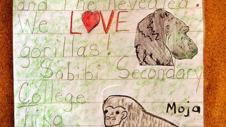 Dopis dětských čtenářů na nástěnce v LWC