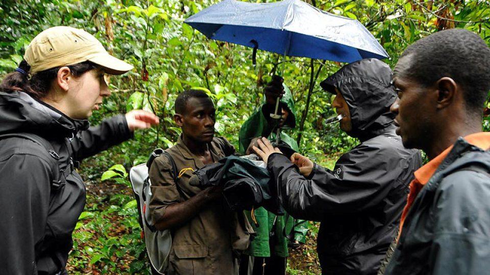 S pygmejskými průvodci konečně v tropickém deštném lese