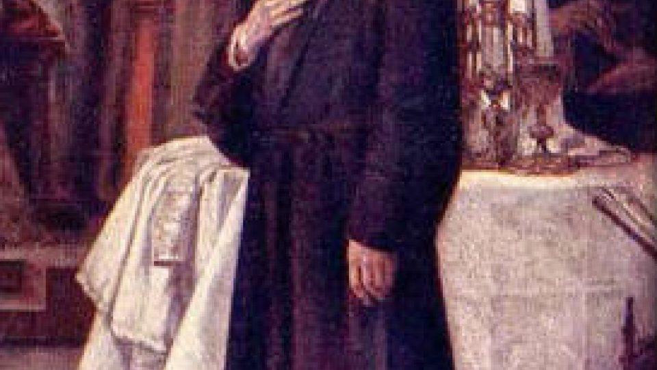 Jan Hus souzen na sněmu kostnickém r. 1415 (detail obrazu Václava Brožíka)