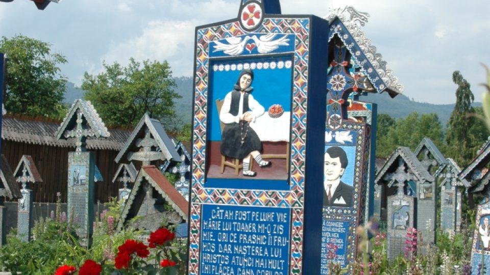 Hrob zbožné stařenky na Veselém hřbitově