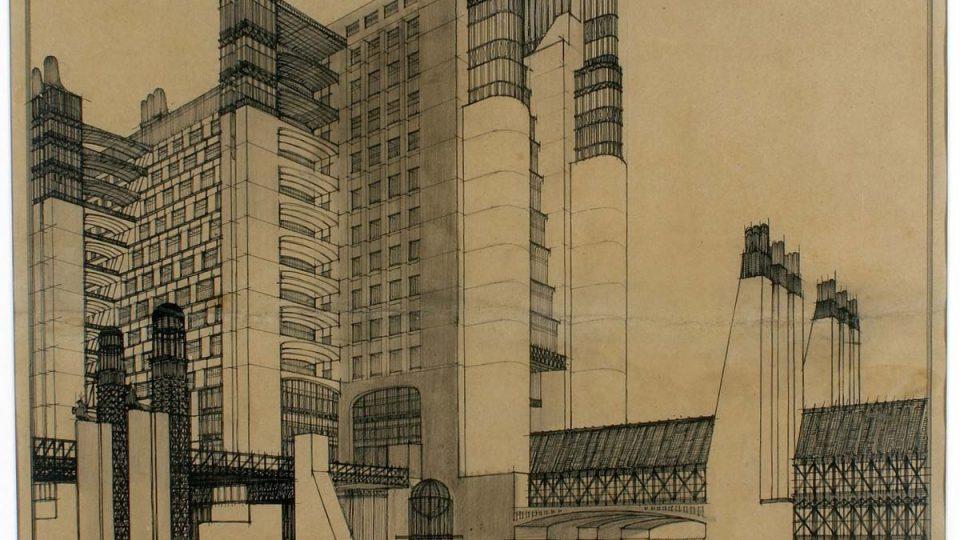 Dům s externími výtahy (1914)