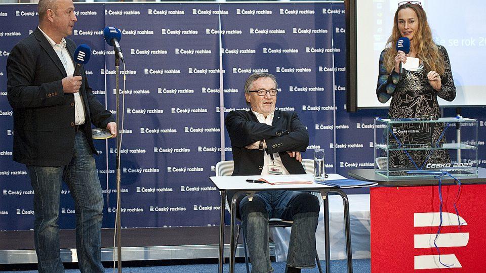 Česko 2023: Slavnostní zakončení projektu, (zleva) Jan Pokorný, Petr Duhan a Lucie Výborná