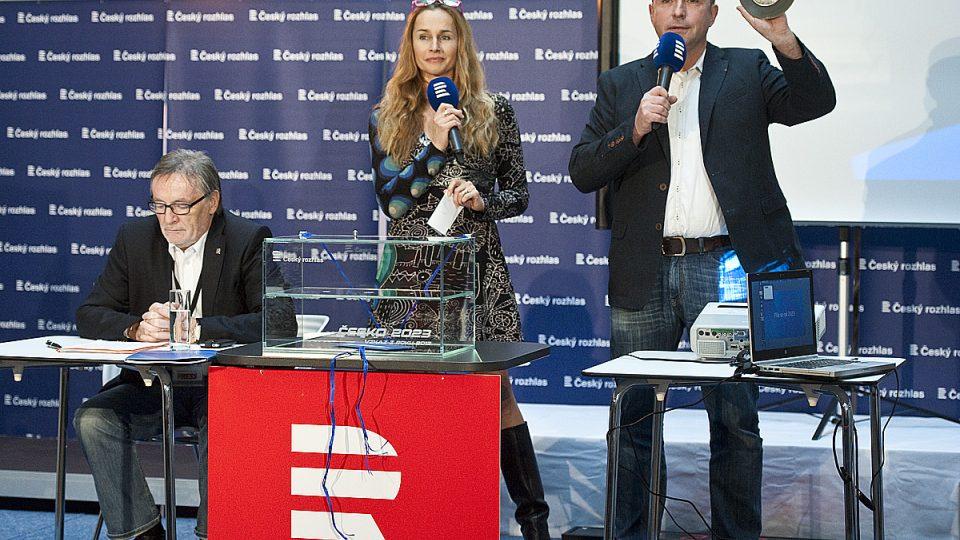 Česko 2023: Slavnostní zakončení projektu, (zleva) Petr Duhan, Lucie Výborná a Jan Pokorný