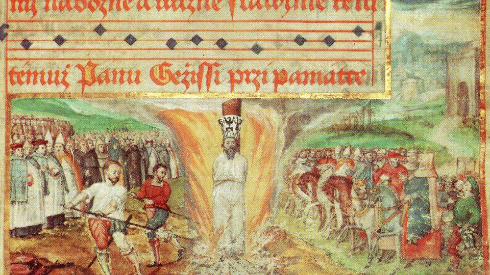 Malostranský  kancionál, 1569, Národní knihovna ČR, XVII A 3, fol. 363r, detail dole