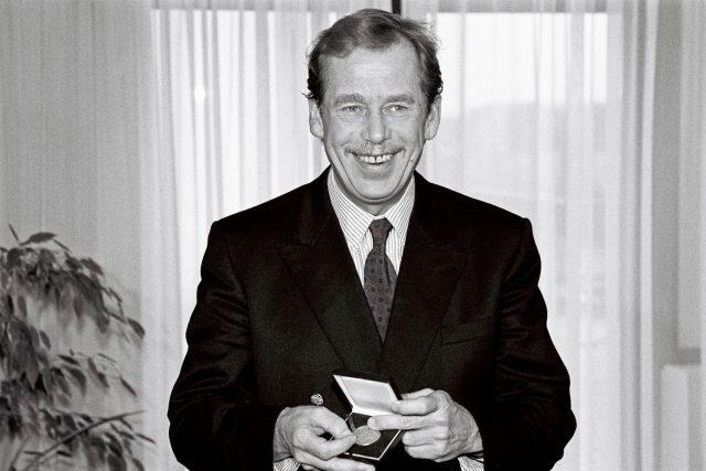 Prezident Václav Havel na návštěvě Evropské parlamentu v roce 1991
